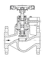 AW 33214 Quick-closing Valve, springloaded, straight pattern, hydr./pn. operation