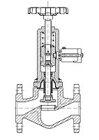 AW 33206 Quick-closing Valve with bellows seal, straight pattern, manual operation