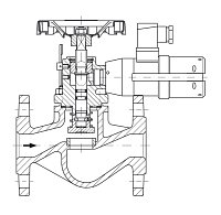 AW 33484 Quick-closing Valve, springloaded, straight pattern, electrical operation, double coil