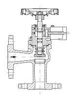 AW 33314 Quick-closing Valve, springloaded, angle pattern, hydr./pn. operation