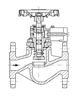 AW 33614 Quick-closing Valve, springloaded, straight pattern, hydr./pn. operation