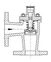 AW 35914 Self-closing Valve, springloaded, angle pattern, without hand wheel