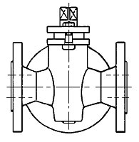 AW 478 Flanged Three-way Gland Cock