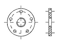 AW 585 Flange Adaptor with BSP-female thread for AW 583