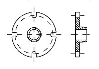 AW 597 Flange with BSP-male thread Marpol DIN 86282