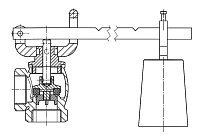 AW 840 Relief Valve with arm and weight