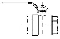 AW 4011 Ball Valve, female thread