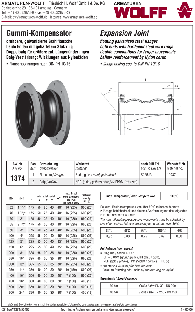 AW 1374 Expansion Joint